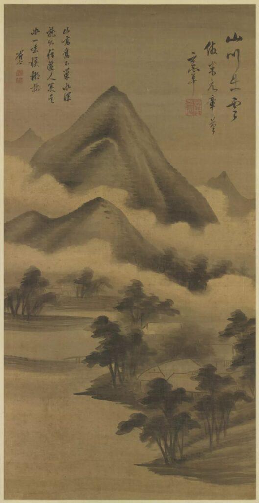 Dong Qichang, Imitating Mi Fu 《仿米芾山水图》 104.5x53.1  Contemporary Tradition – inherit and transmit