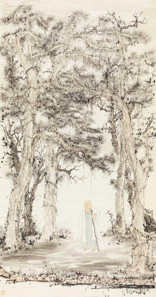 Lin Haizhong 林海钟, discourses on Chinese painting Arahat《大阿罗汉图》 143.5×75.5