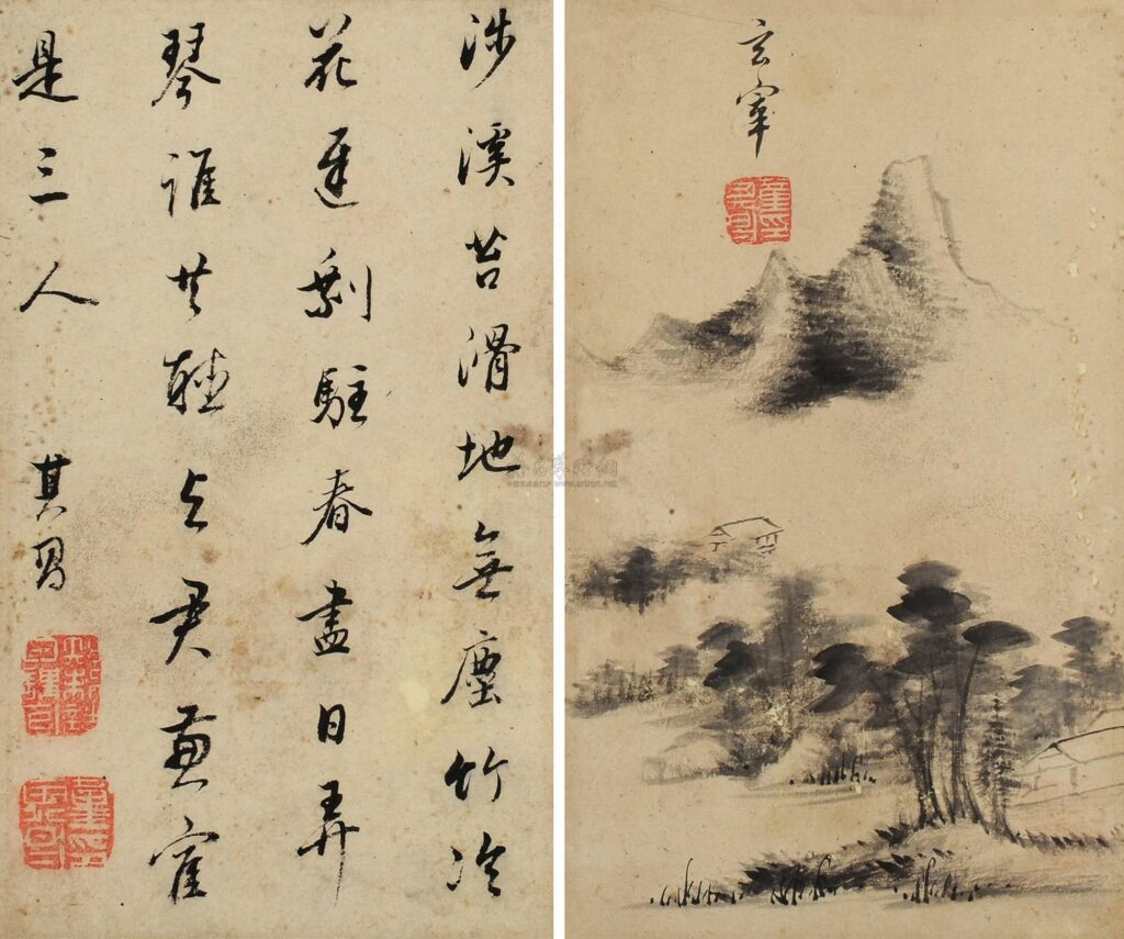 Contemporary Tradition – inherit and transmit  Dong Qichang 董其昌 (1555–1636), Mountain and water album leaf