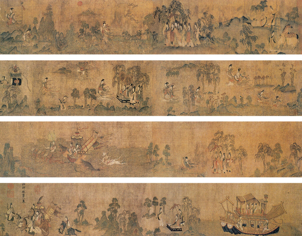 Gu Kaizhi 顾恺之 Ode to the Goddess of the Luo River 《洛神赋图》(copy) 21x573 The Image Colour in Chinese Painting