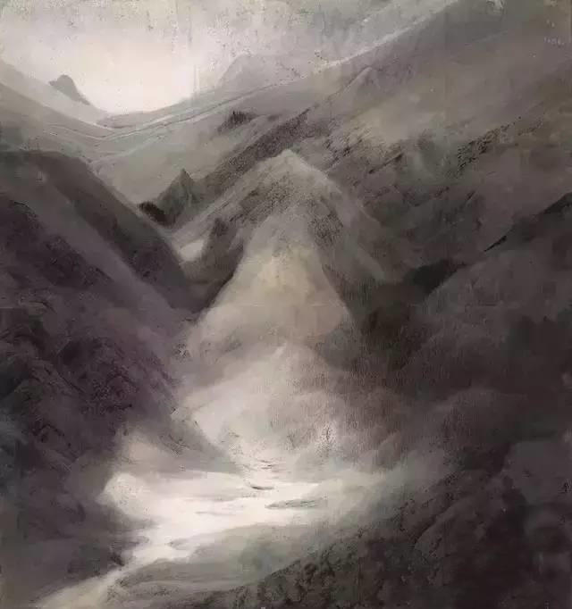 Compromising Spirit of Lingnan School of Painting  Li Jinkun 李劲堃 Frosty Dawns 《霜天晓雾》