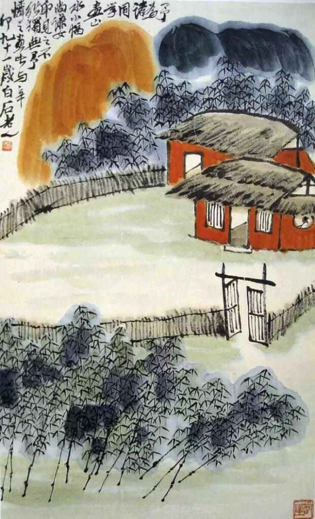 The bifa concept in Jing Hao's Bifaji Qi Baishi 齐白石 (1864-1957) Mountain and Water 《山水小幅》 1951