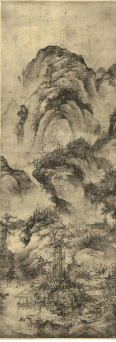Reclusive culture in Chinese Mountain and Water painting Guo Xi 郭熙 Two pine Water Pavilion 《双松水阁图》
