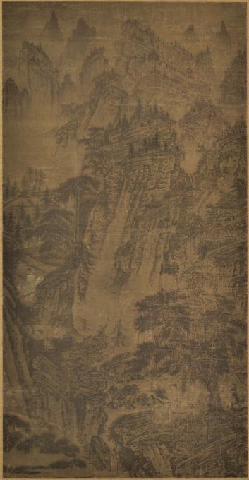 Reclusive culture in Chinese Mountain and Water painting Jing Hao 荆浩 (ca. 850-911), Zhongli Quan Seeking the Dao 《钟离访道图》