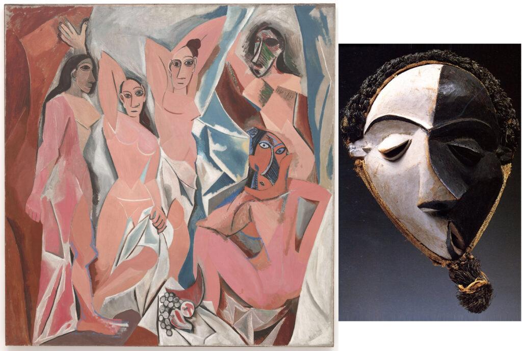 Les Demoiselles d'Avignon & African mask.