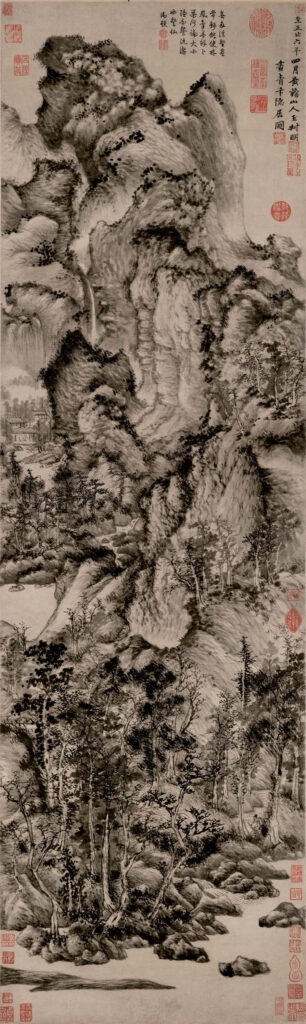 Wang Meng, Dwelling in Reclusion in the Bian Mountain 《青卞隐居图》 140.6×42.2 Contemporary Tradition – inherit and transmit